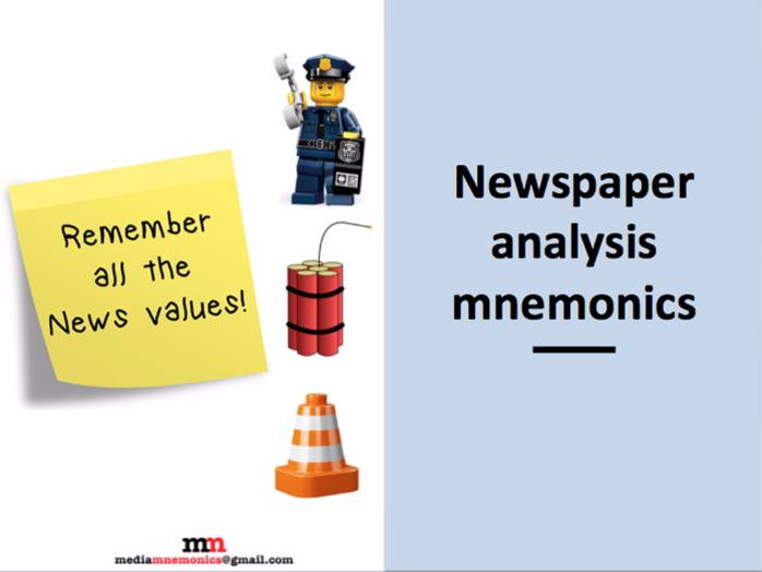 News Values Revision Mnemonic
