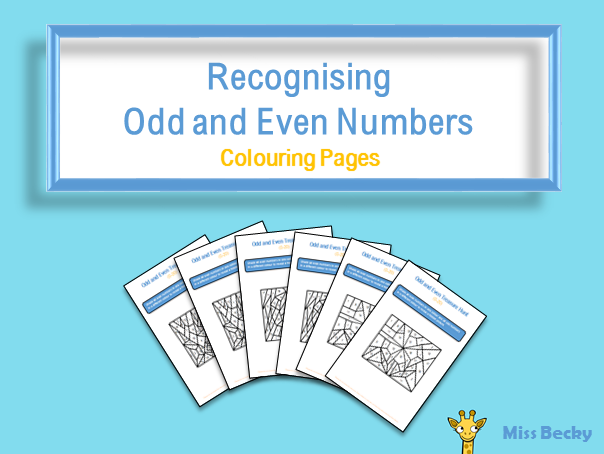 Recognising Odd and Even Numbers - Colouring Pages (Differentiated)