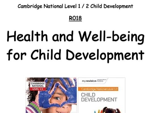 OCR Child Development R018 Revision Booklet