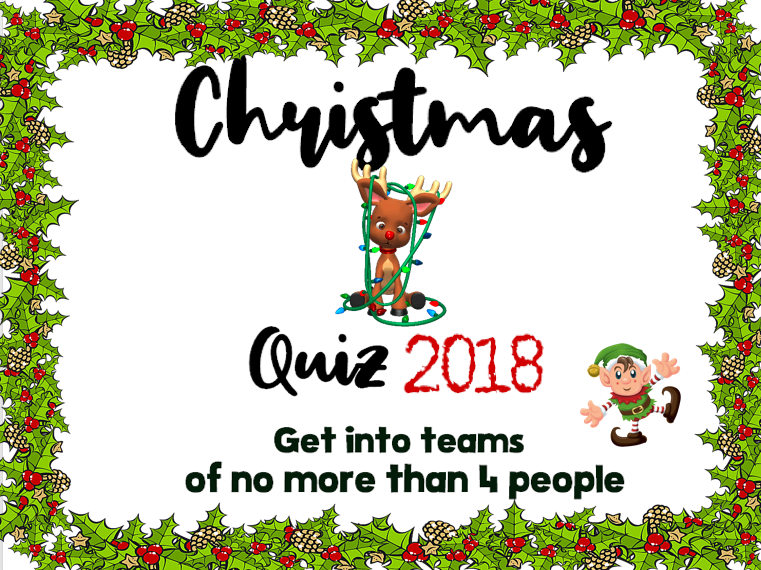 Christmas Quiz - 2018
