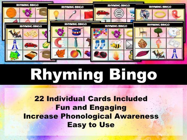 Rhyme Bingo Game (Phonics)
