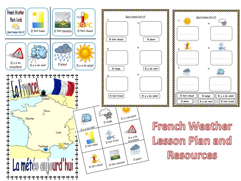 French Weather Lesson Ks12 By Mrspomme Teaching Resources Tes