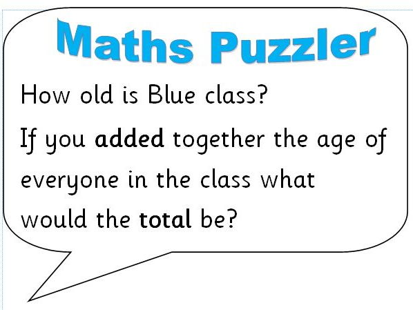 Maths Puzzlers