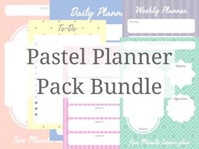 Pastel Planner Bundle