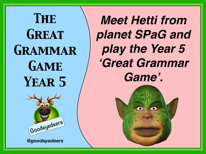SPaG - A Great Grammar Game for Year 5
