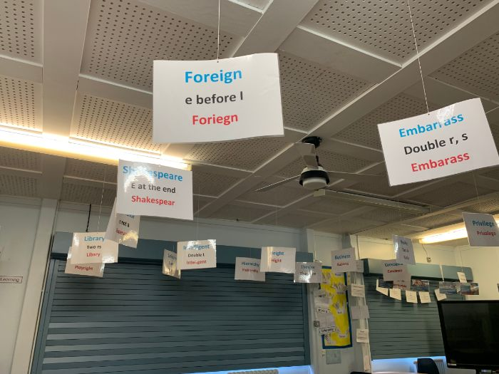 Common Misspellings Hanging Display Literacy