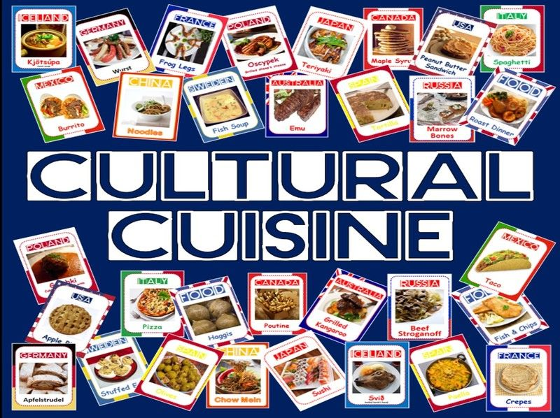 CULTURAL CUISINE- 200 A5 FOOD FLASHCARDS - food from around the world - science, geography