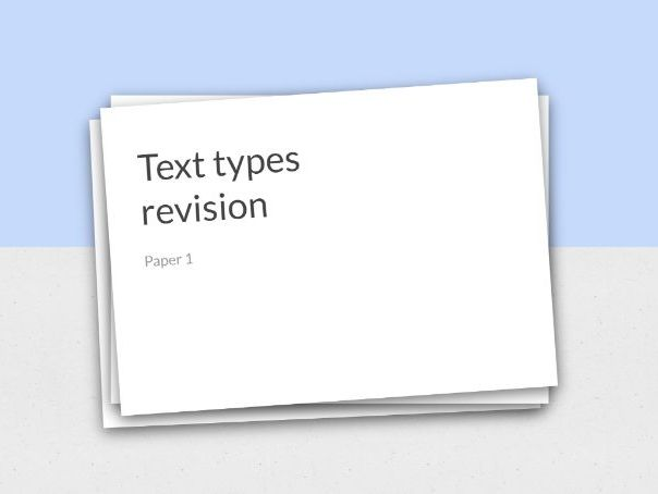 Text types revision PPT