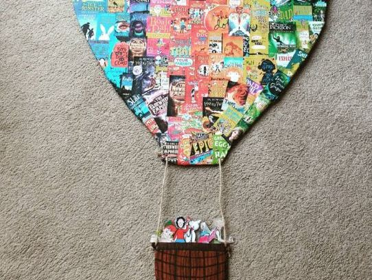 Book covers for hot air balloon display