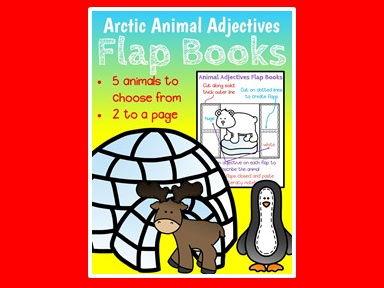 Animal Adjectives - Flap Books - Parts of Speech - Grammar - Adjectives - Arctic Animals