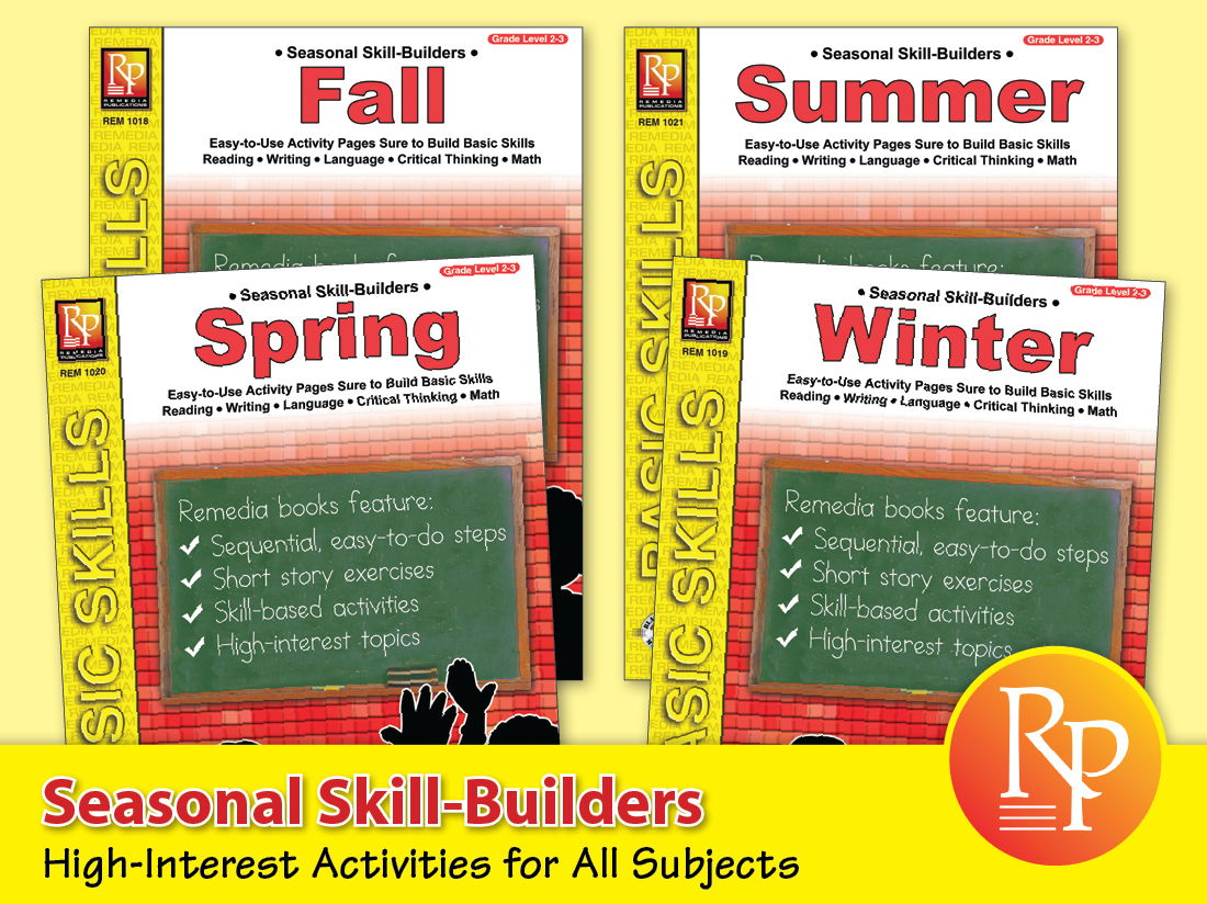 Seasonal Skill-Builder Activities for All Subjects {Bundle}