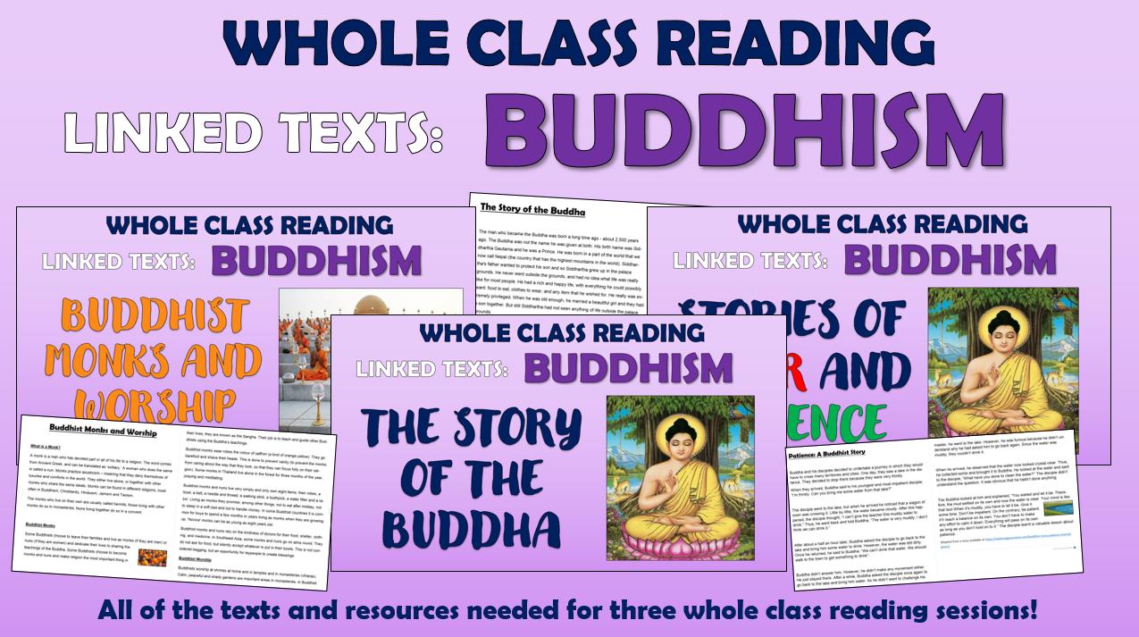 Buddhism - KS2 Whole Class Reading Bundle!