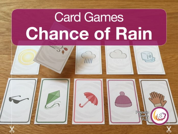 Probability - Chance of Rain Card Game
