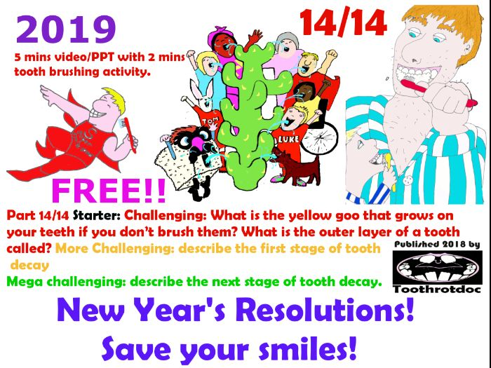 Free! 14/14 New Year's Resolutions! Save Your Smiles!