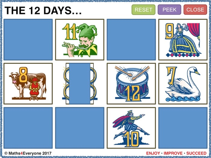 12 Days of Christmas (Interactive Whiteboard Challenge)
