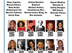 Name the Famous African American QR Code Poster