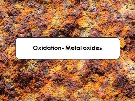 Activate Oxidation / Metal oxides Fully resourced lesson