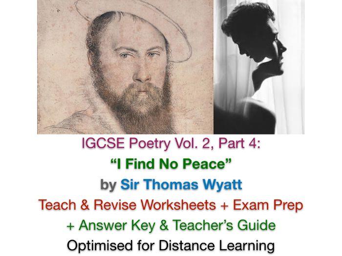 """I Find No Peace"" (Sir Thomas Wyatt) IGCSE TEACH + EXAM PREP + ANSWERS"
