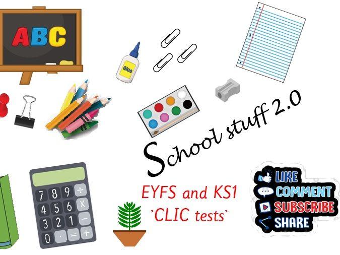 Big maths CLIC tests EYFS & KS1