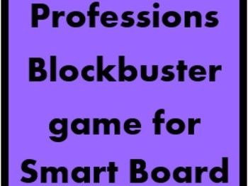 Professions Blockbuster game for Smartboard