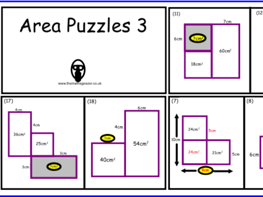 Area Puzzles 3 - Notebook