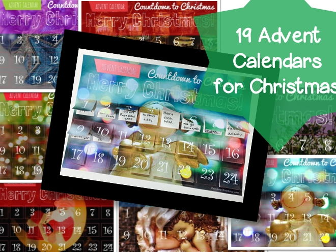 19 Christmas Advent Calendars (with a list of activities for Advent Calendars)