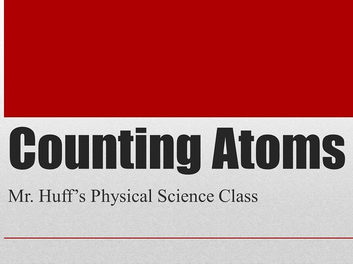 Counting the Type and Number of Atoms in a Chemical Formula - Video