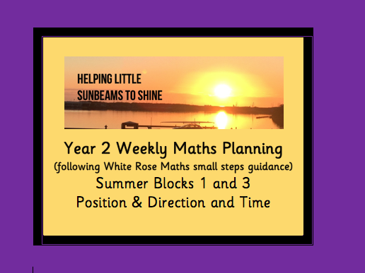 Y2 Summer Block 1&3: Position & Time  (following the White Rose maths small steps guidance)