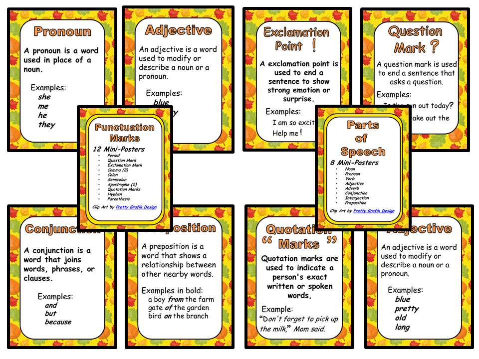 Classroom Mini=Posters - Autumn Theme