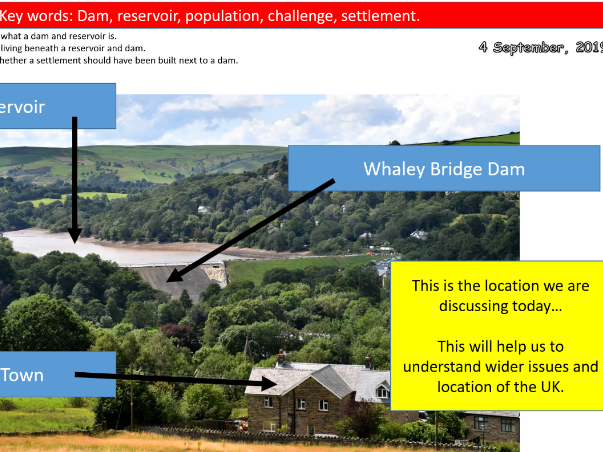 Whaley Bridge Dam and Reservoir Lesson- Geography