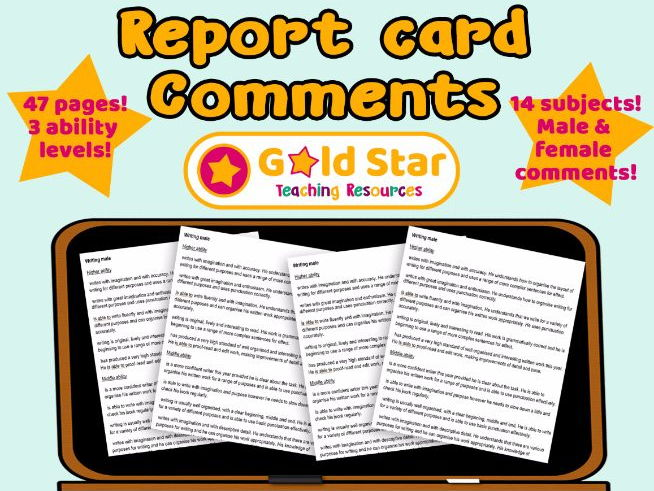 Report Comments - Statements Bank & Targets, Male & Female Primary / Elementary