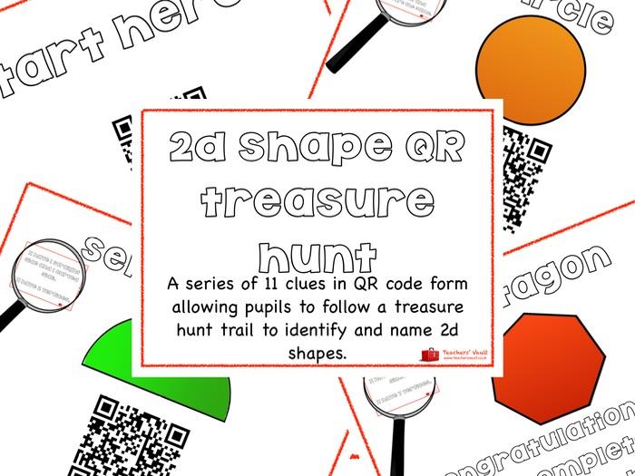 2d shape QR code treasure hunt