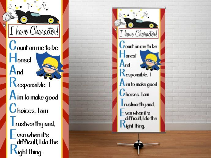 SUPER HERO - Classroom Decor: LARGE BANNER, I have CHARACTER