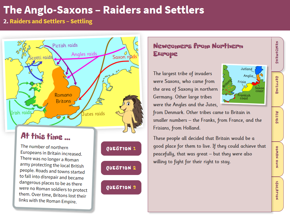 KS2 Anglo-Saxon Britain - 'Settling' interactive teaching book