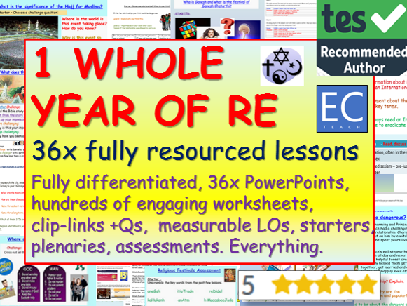 RE: 1 Year of RE Lessons