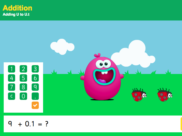 Addition with Decimals - Adding a Decimal to a Unit Interactive Game - KS2 Number