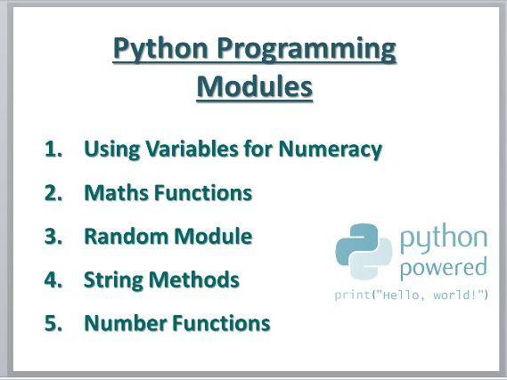 Python Programming Modules