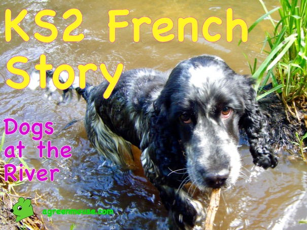 French Story, Video + Worksheets - Dogs at the River