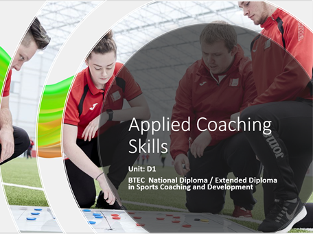BTEC Sports Coaching & Development (2020)  D1 Applied  Coaching Skills Unit Pack