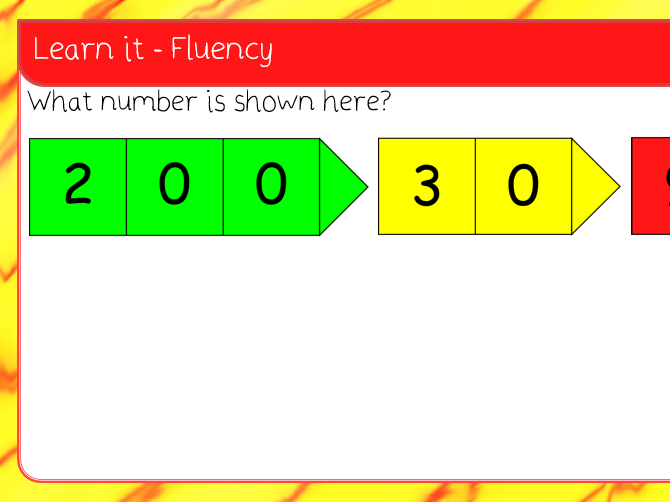 3. 100s, 10s, 1s (1) place value lesson pack