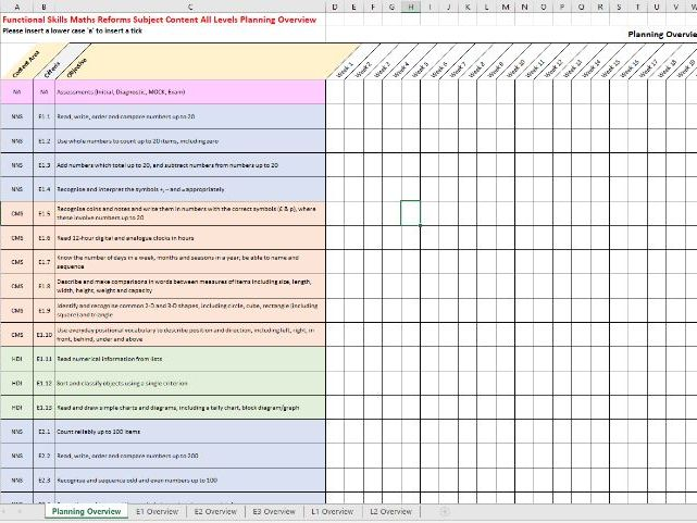 FS Maths (Reforms) Curriculum Planning & Delivery