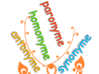 Synonyme-Homonyme-Antonyme-Paronyme (in French)_theory+exercises