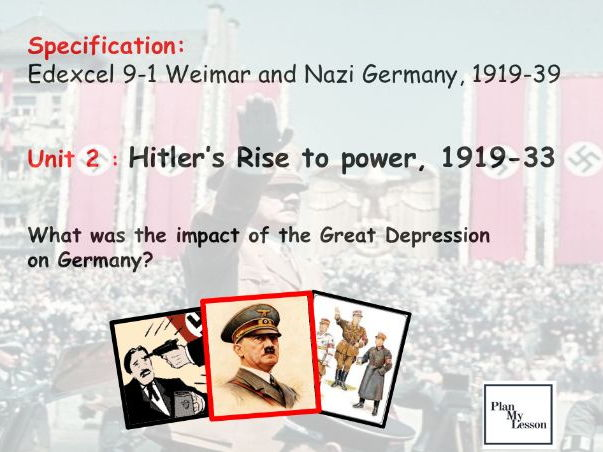 Edexcel 9-1 Weimar & Nazi Germany:  L 21 What was the impact of the Great Depression on Germany?