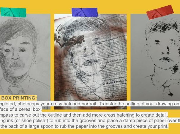 Year 7 Portraiture Printing Project