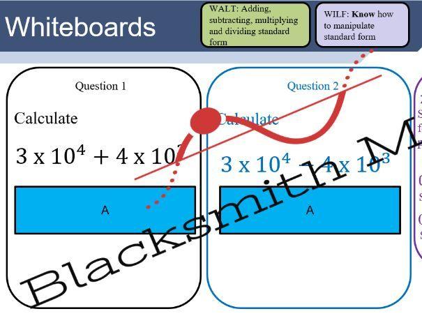 Unit standard form - lesson bundle