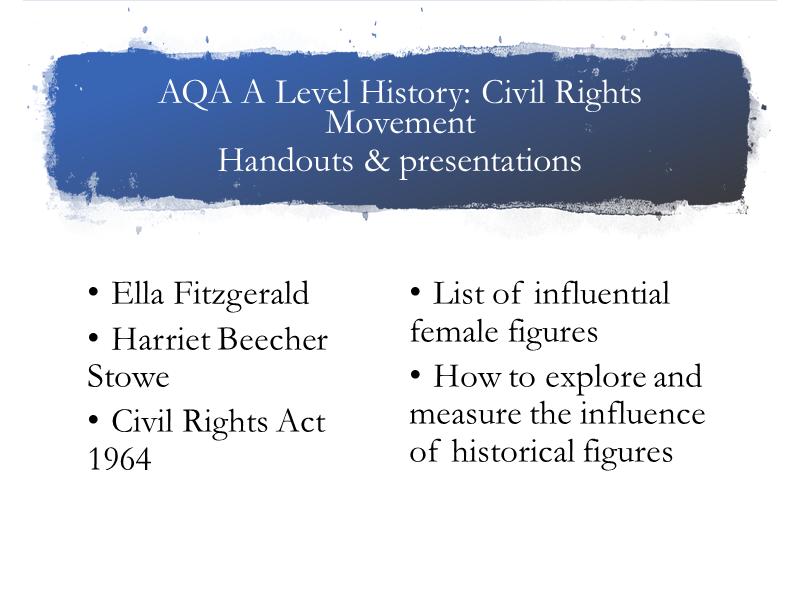 AQA A Level History Civil Rights