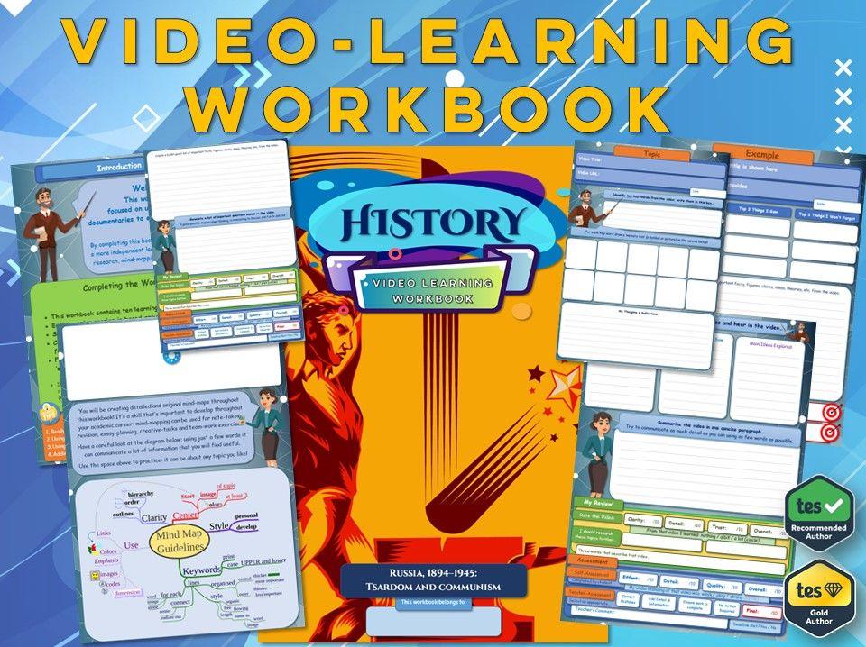 Russia, 1894–1945 - Tsardom and Communism - Workbook [ GCSE History: Video Learning Workbook ]