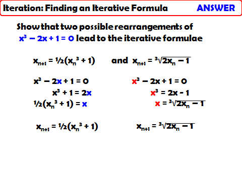 Finding an Iterative Formula