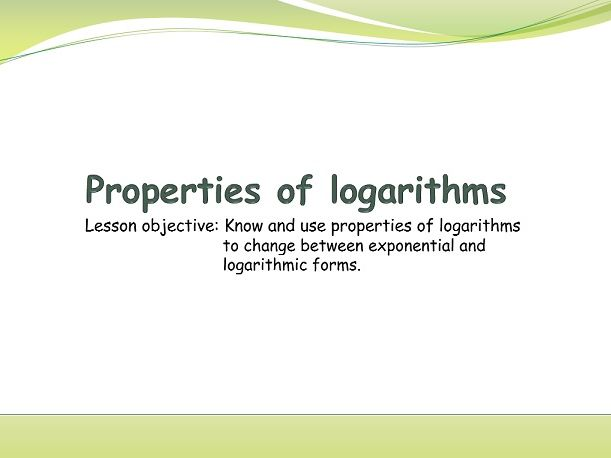 IB Applications and interpretations - Introduction to logarithms