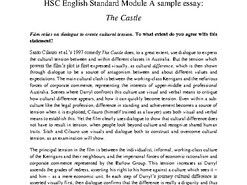 HSC Standard English Module A: The Castle Sample Essay and Essay Analysis